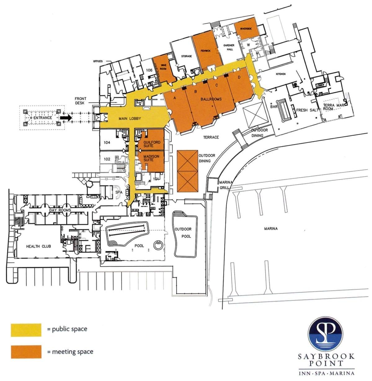 Saybrook Point Inn floor plan