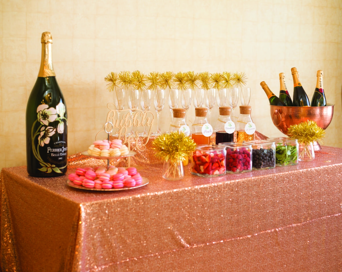 Event bubbly bar.