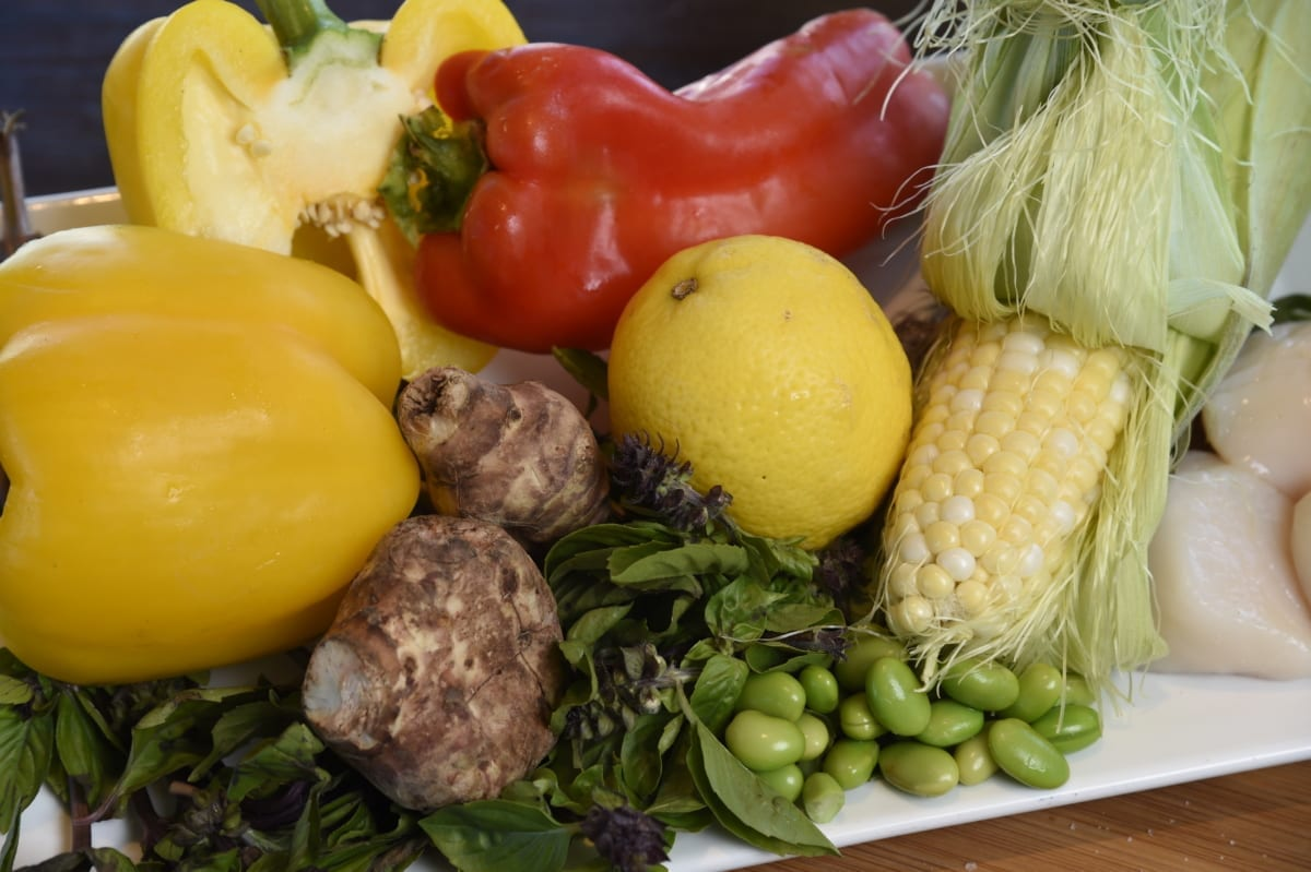 Assortment of vegetables.