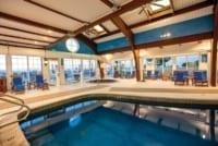 Indoor hotel pool.