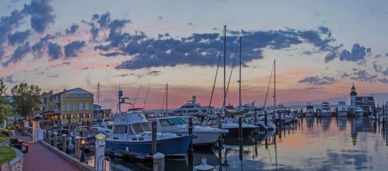 Marina at sunrise.