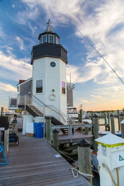 lighthouse suite on the docks of the marina at saybrook point inn & spa