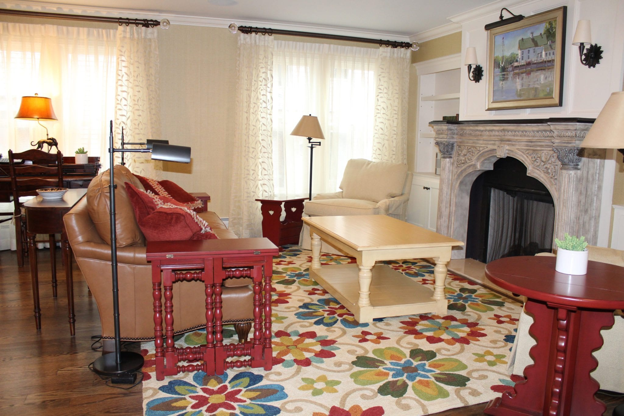 Living area in guest house.