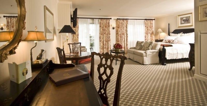 Luxury hotel room.