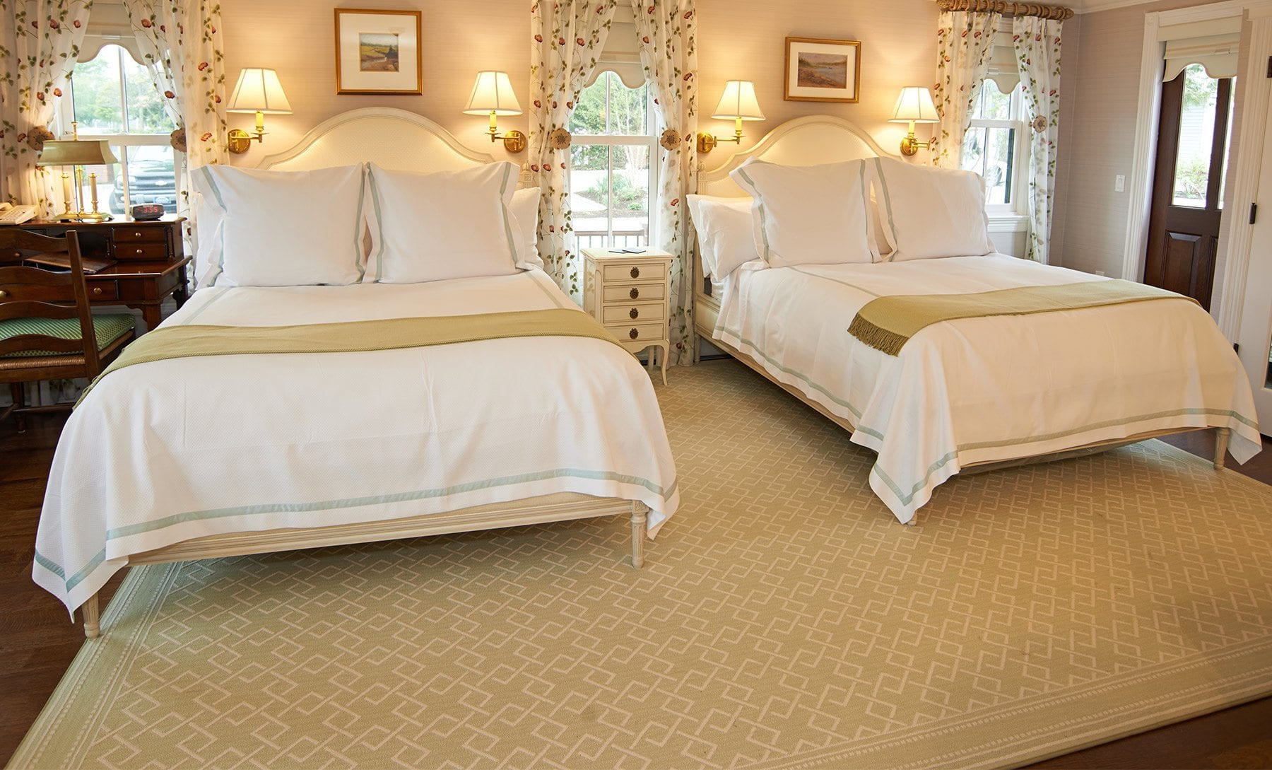 Two beds in guest house.