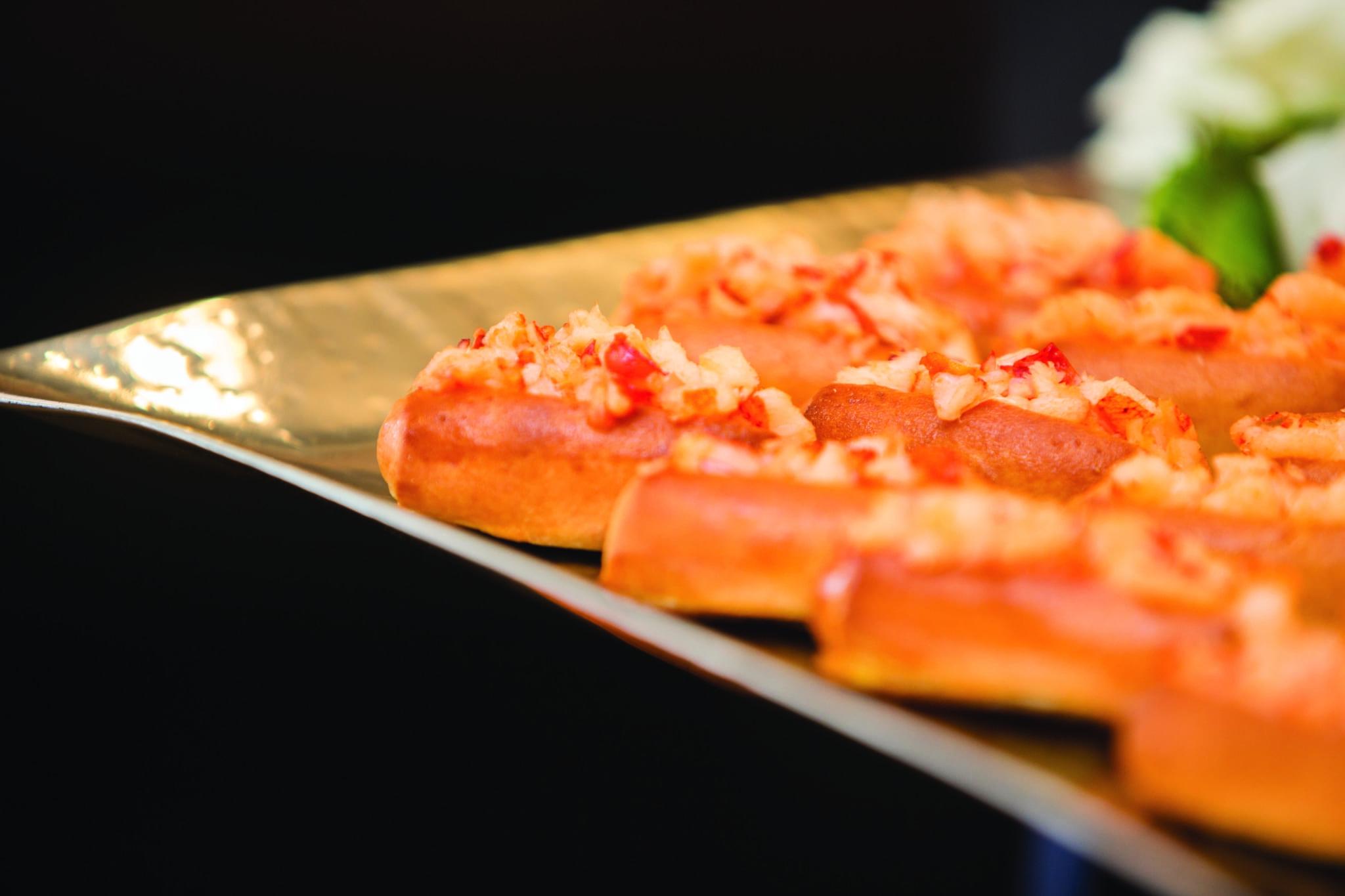Mini lobster rolls.