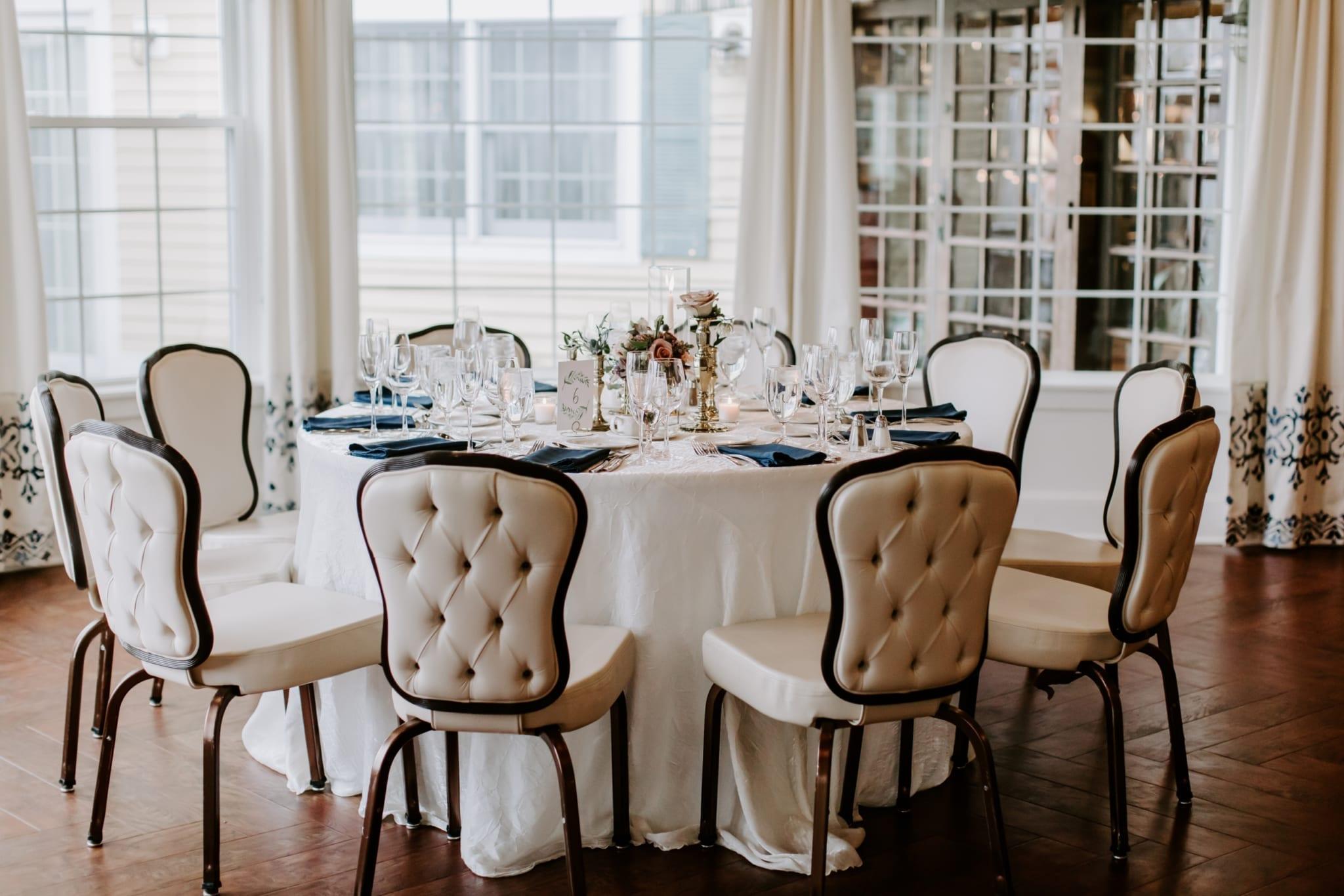 Wedding reception table.