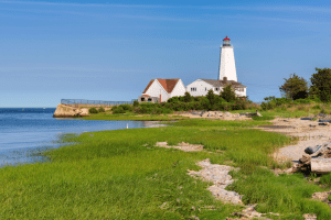 Photo of Lynde Point Lighthouse, Home to Enthralling Connecticut History.