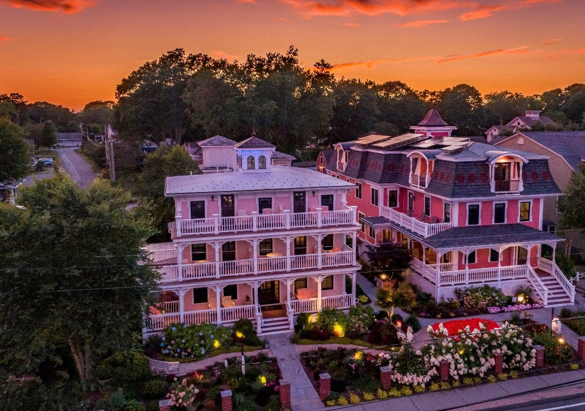 Guest Houses at Sunset.