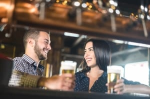 Photo of a Couple at one of the best breweries near Old Saybrook CT.