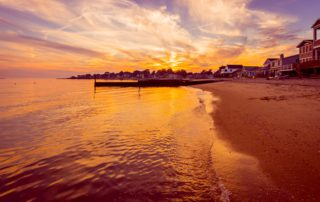 A sunset in Old Saybrook, CT during the Thanksgiving season.